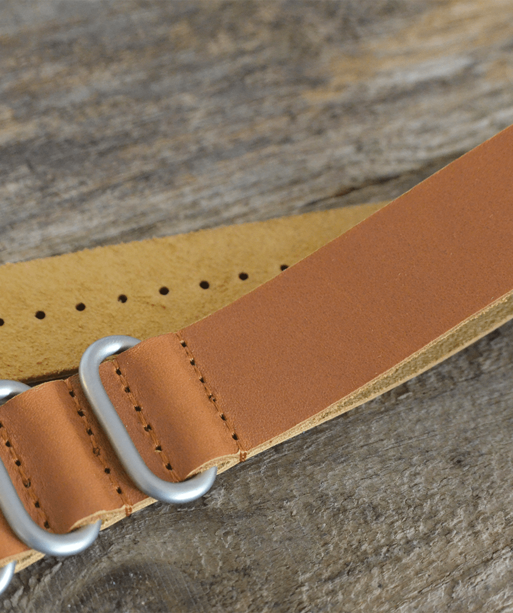Pookwatches Leather Nato Strap 22 mm